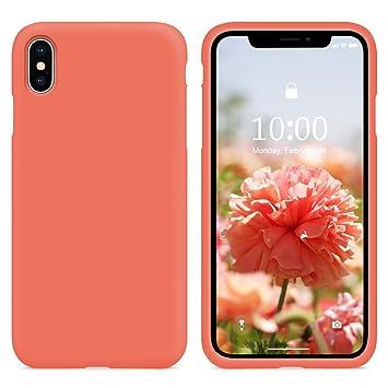 SURPHY Funda iPhone XS/X, Carcasa Silicona Colores del Caramelo Protector TPU Ultra-Delgado Anti-Arañazos Caso Caja para Teléfono Apple iPhone X/XS de ...