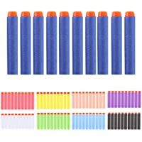 100pcs 7.2cm Refill Bullet Darts for Nerf N-strike Elite Series Blasters Kid Toy Gun,mulit color