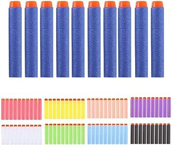 100pcs 7.2cm Refill Bullet Darts for Nerf N-strike Elite Series Blasters Kid Toy Gun,mulit color