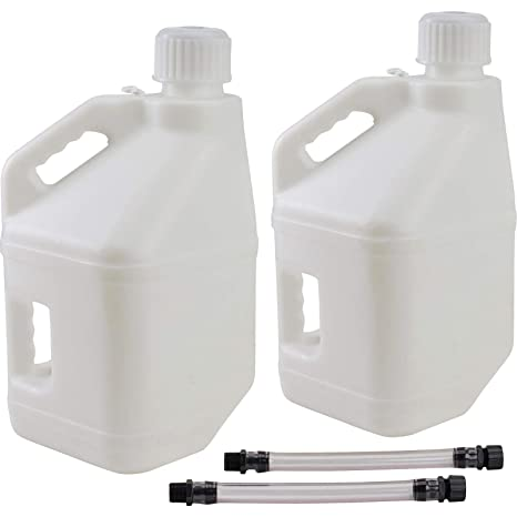 LC LC2 Utility Jug with 12 Filler Hose 5 Gallons White