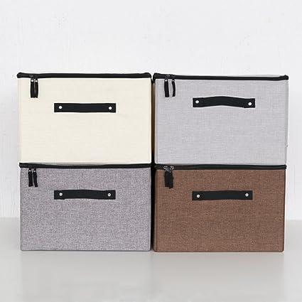 BOXLeader Caja de Superior Caja de 4 Pack Plegable Plegable Caja Organizador Plegable plástico Caja Cajas