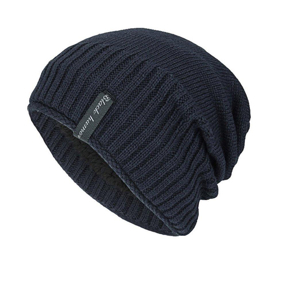 abe2f3f2437 iYBUIA New Unisex Knit Cap Hedging Head Hat Beanie Cap Warm Outdoor Fashion  Hat(Black