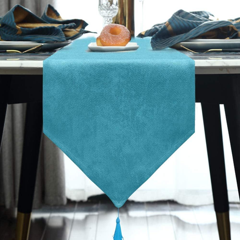 BALCONY & FALCON Home Decorative Linen Table Runner,Farmhouse Table Runner, Elegant Table Runner,Handcrafted Dresser Scarf: Home & Kitchen
