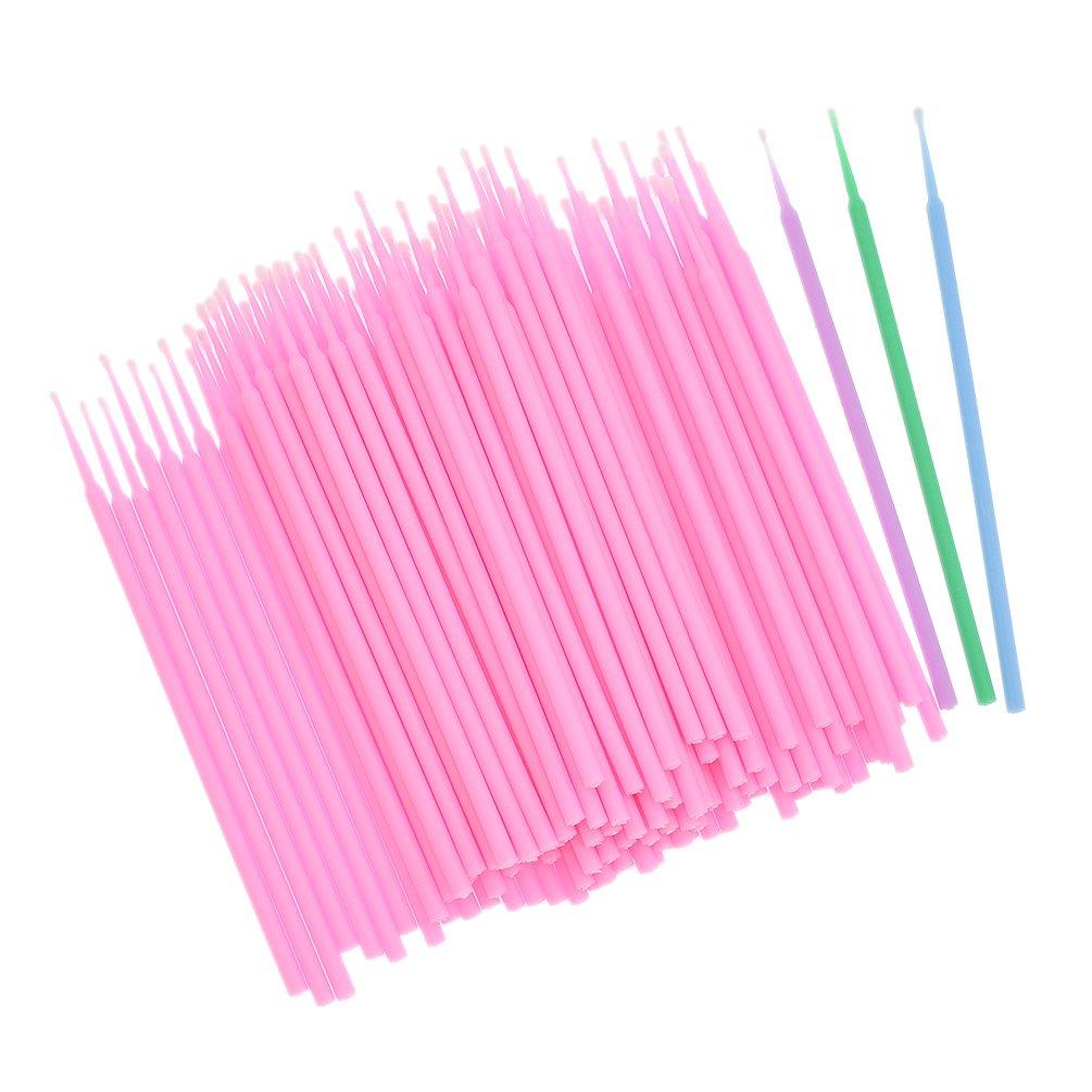 Kesheng 400Pcs Dental Disposable Micro Applicator Brush Dia.3mm Color Random