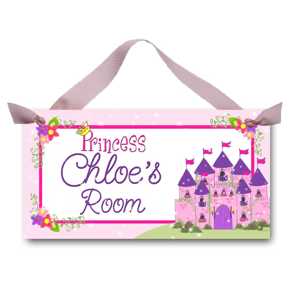 Toad and Lily Born to be a Princess Girls Bedroom Baby Nursery Bedroom DOOR SIGN Wall Art Decor DS0024 by Toad and Lily