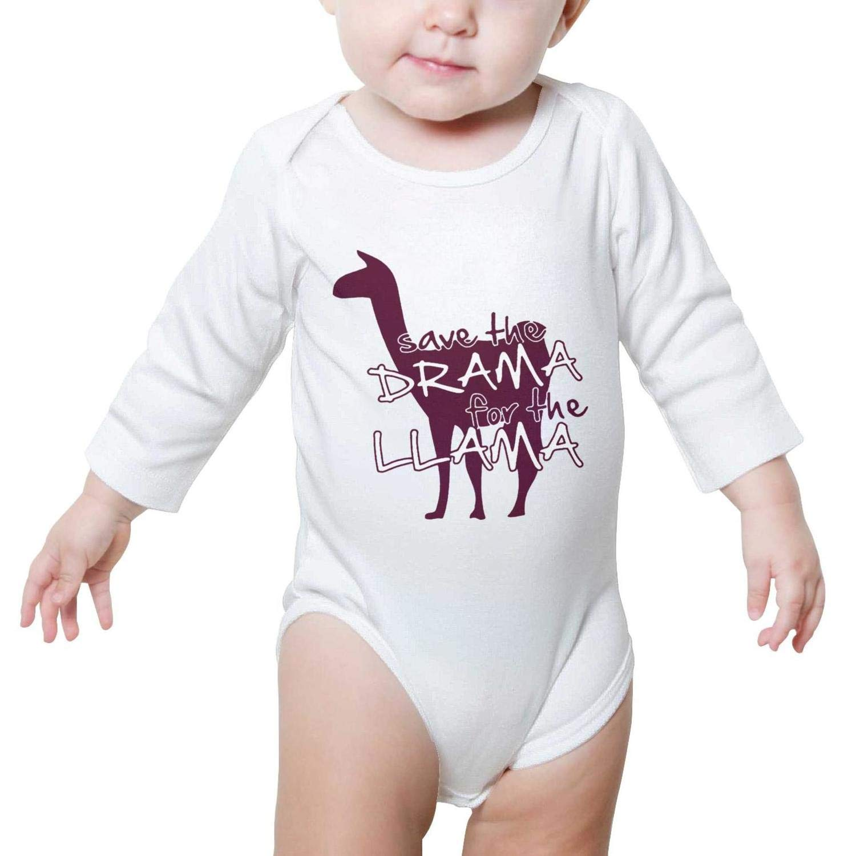 Hello Fat Llama Long Sleeve Pretty Baby Onesies Bodysuit Cute for Newborn Infant