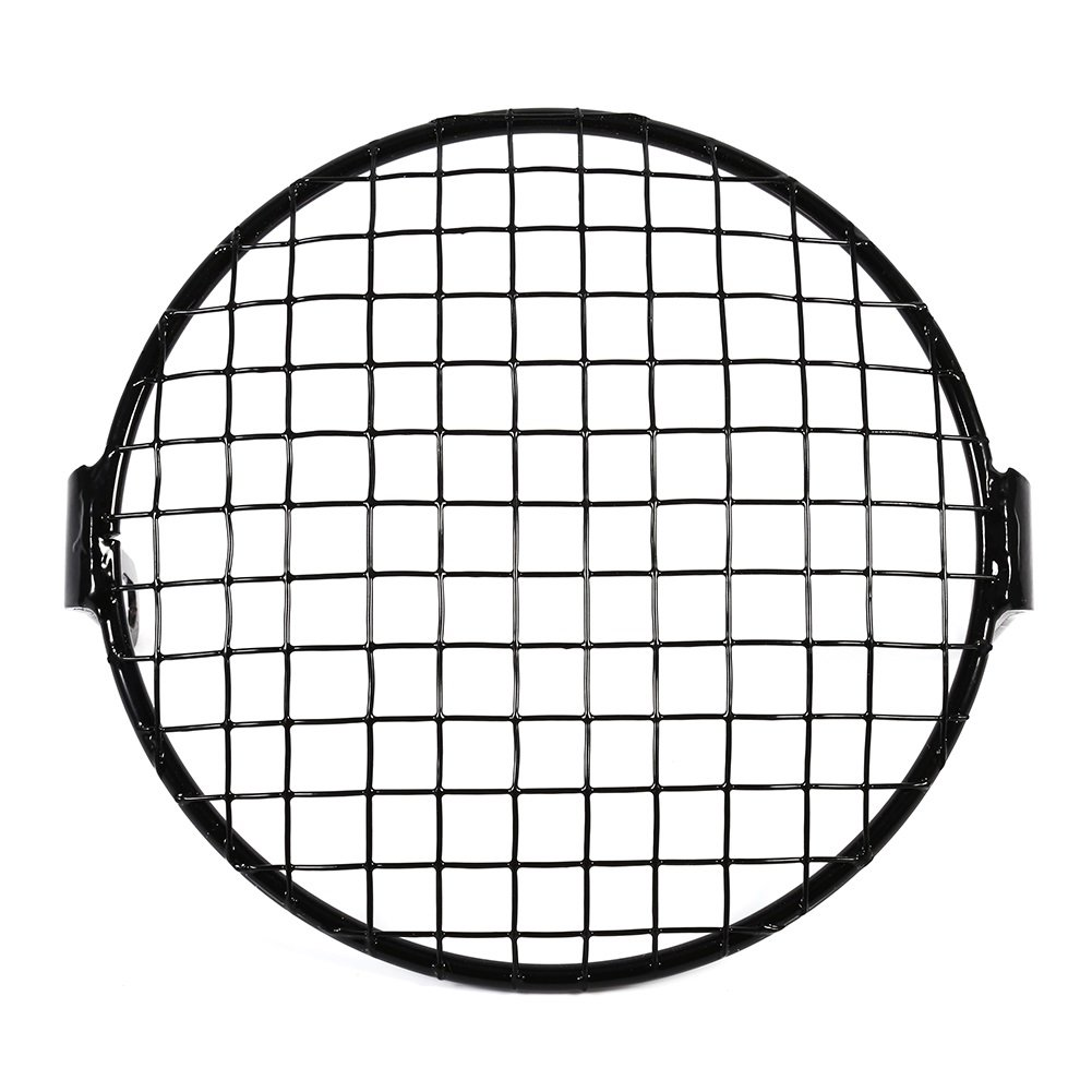 VGEBY 6.3' Universal Motorcycle Metal Mesh Grill Headlight Mesh Protector Guard Cover