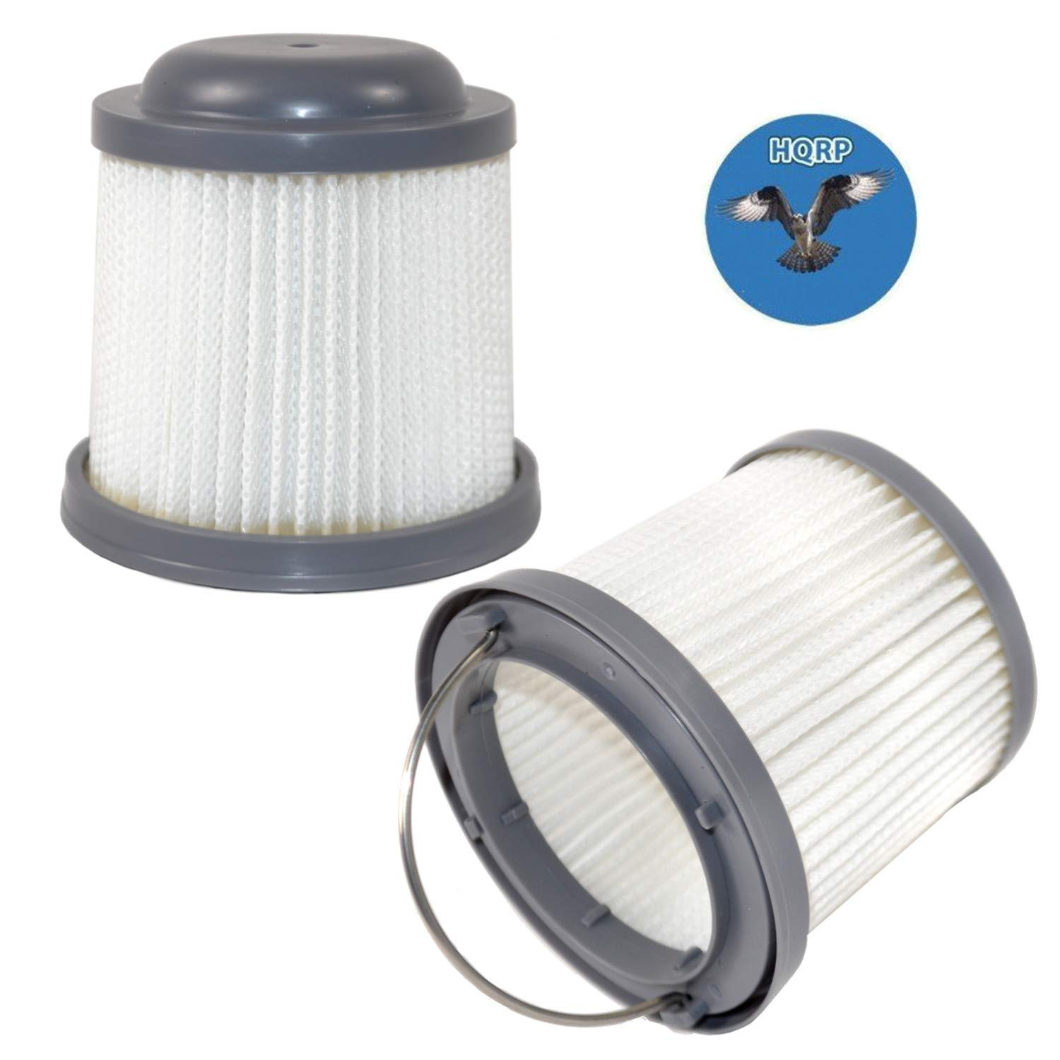 HQRP 2-Pack Washable Filter Compatible with Black & Decker BDH2000PL, BDH1600PL, BDH2020FLFH, BDH1620FLFH, BDH2020FL Flex Lithium Pivot Vac Vacuums by HQRP