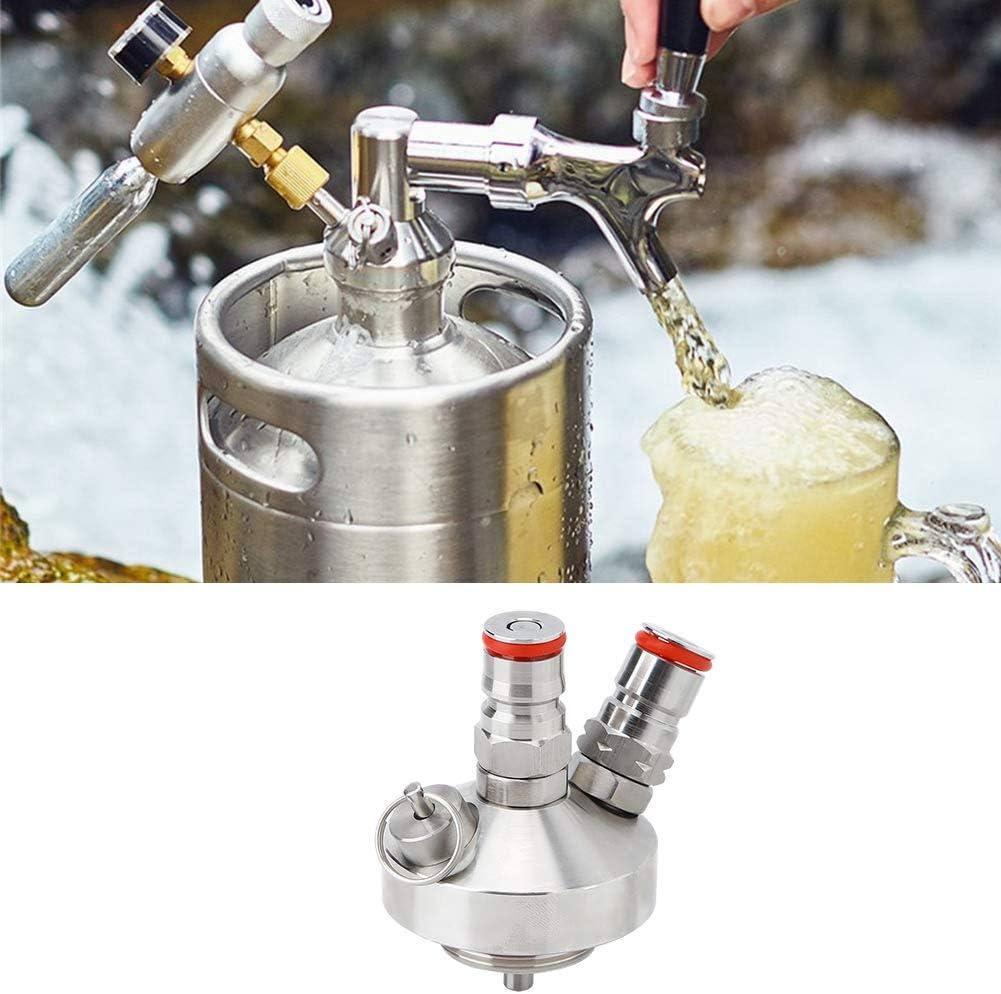 Cerveza grifo, acero inoxidable Mini bebida de vino Cerveza Dispensador de barril de cerveza con manguera y sello