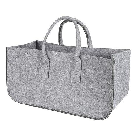 Bags   Baskets - Holder Storage Handbag Pocket Felt Bag Stalls Log Wood  Large Capacity Firewood bc7b37ac14b7e