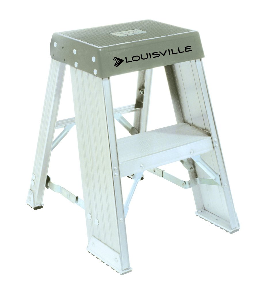 Louisville Ladder AY8003 300 Pound Duty Rating Aluminum Step Stands 3 Foot