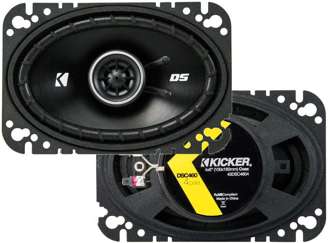Kicker 43DSC4604 4x6 2-Way Speaker Pair