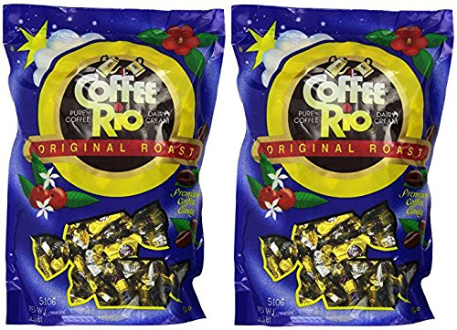 Coffee Rio Original Roast Gourmet Candy, Pure Coffee & Dairy Cream, 12 Oz (Pack of 2)