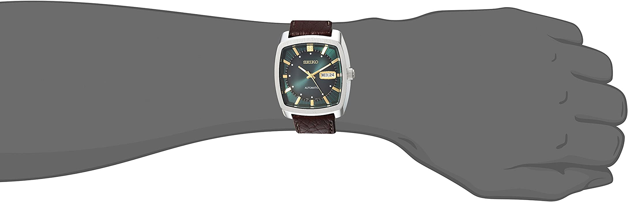 Seiko Men Recraft Series Automatic Leather Casual Watch Model SNKP27