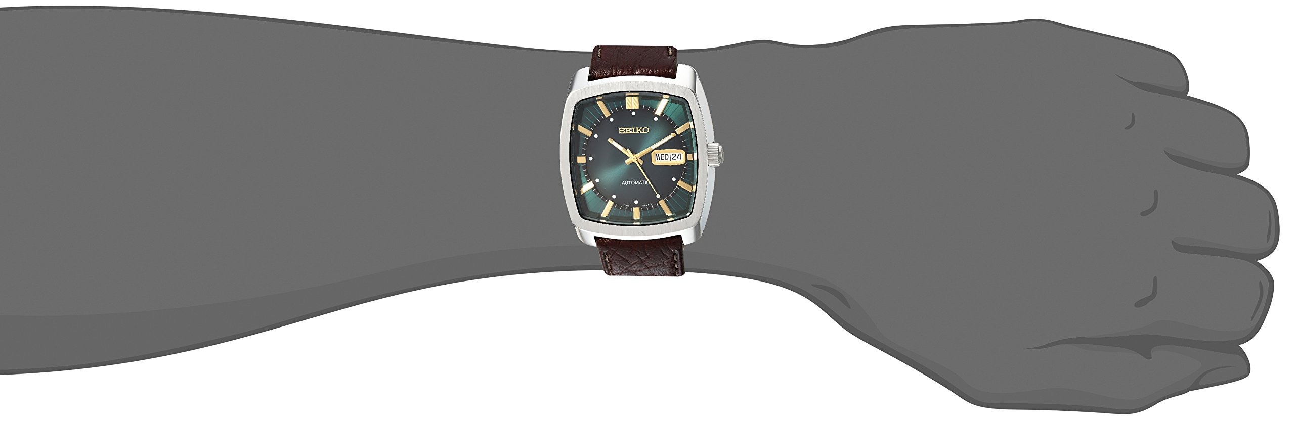 Seiko Men's Recraft Series Automatic Leather Casual Watch (Model: SNKP27) by SEIKO (Image #3)
