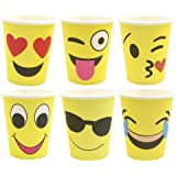 ZICOME Set of 60 Emoji Party Paper Cups, 9 Ounce