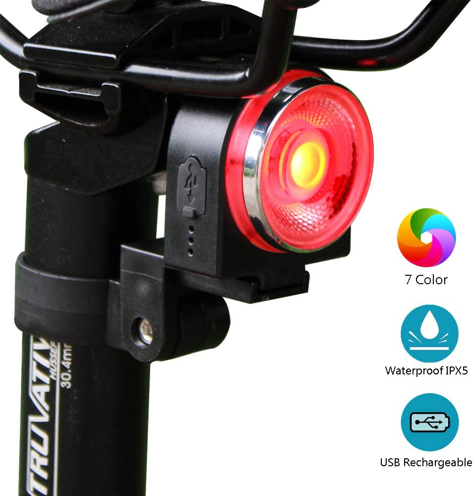G Keni Bike Tail Light USB Rechargeable, Ultra Bright Red Bicycle Rear Light Waterproof IPX5 LED Red Blinkers Bike Accessories for Any Road Bikes