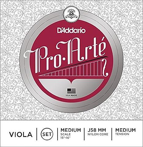 D'Addario Pro-Arte Viola String Set, Medium Scale, Medium Tension (Dominant Viola A String)