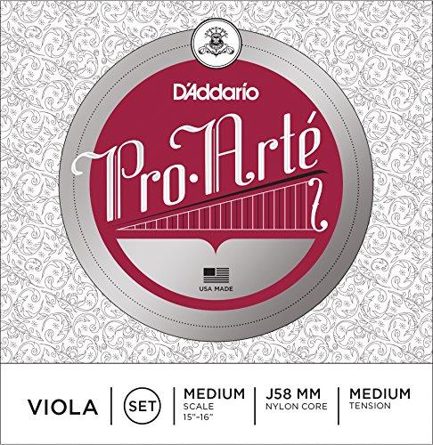 D'Addario Pro-Arte Viola String Set, Medium Scale, Medium Tension (Viola Spirocore Set)