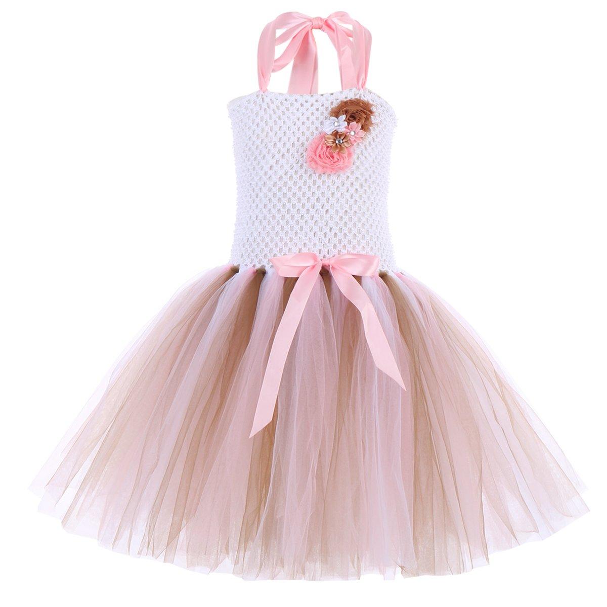 1969a7d2f Amazon.com  Little Girls Flower Unicorn Birthday Princess Rainbow ...