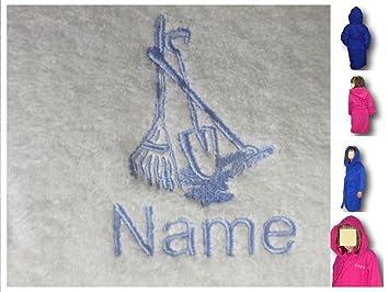 Enfant Peignoir de bain à capuche avec un jardin outils Logo et nom ...