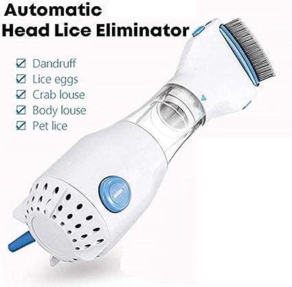 Tratamiento limpiador eléctrico para eliminar piojos de cabeza automática para mascotas - Peine eléctrico para piojos - Solución de piojos sin químicos: Amazon.es: Belleza