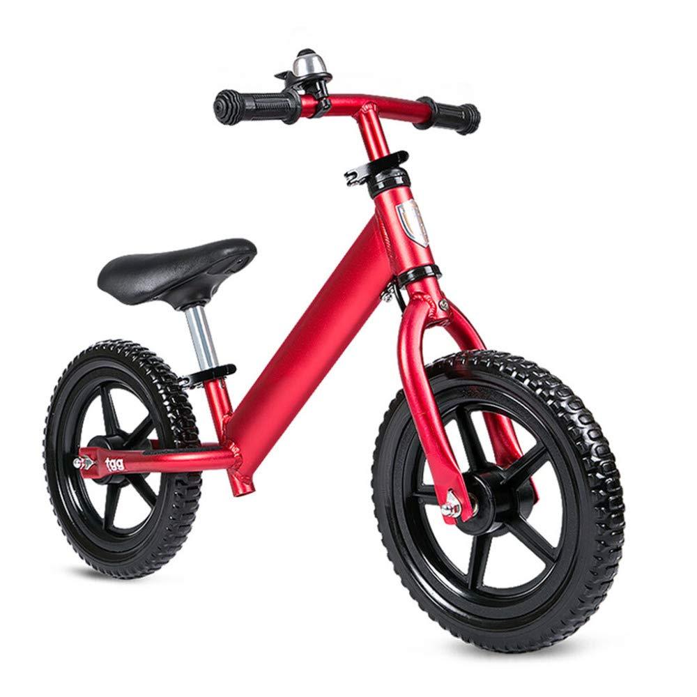 Balance SLFF Bike Kein Pedal Fahrrad Mit Verstellbarem Lenker Und Sitz Für Kinder Von 2-5 Jahre Alt Zweirad Roller,ROT-12& 039;& 039;