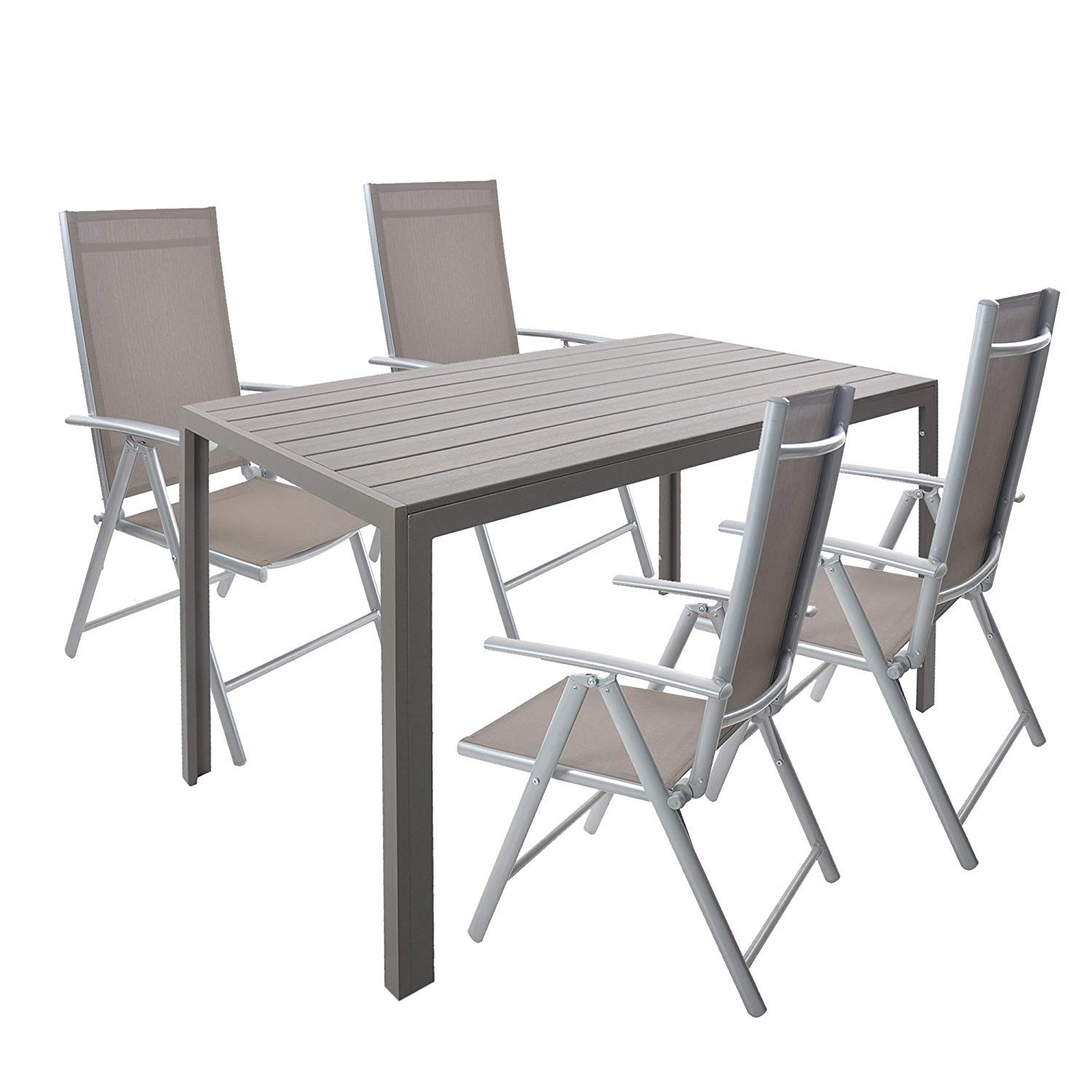 Astounding Amazon Com Karmas Product 5 Piece Aluminum Patio Dining Machost Co Dining Chair Design Ideas Machostcouk