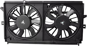 TOPAZ 19130419 Radiator Condenser Cooling Fan Assembly for 00-03 Chevrolet Impala Monte Carlo 3.4L 3.8L