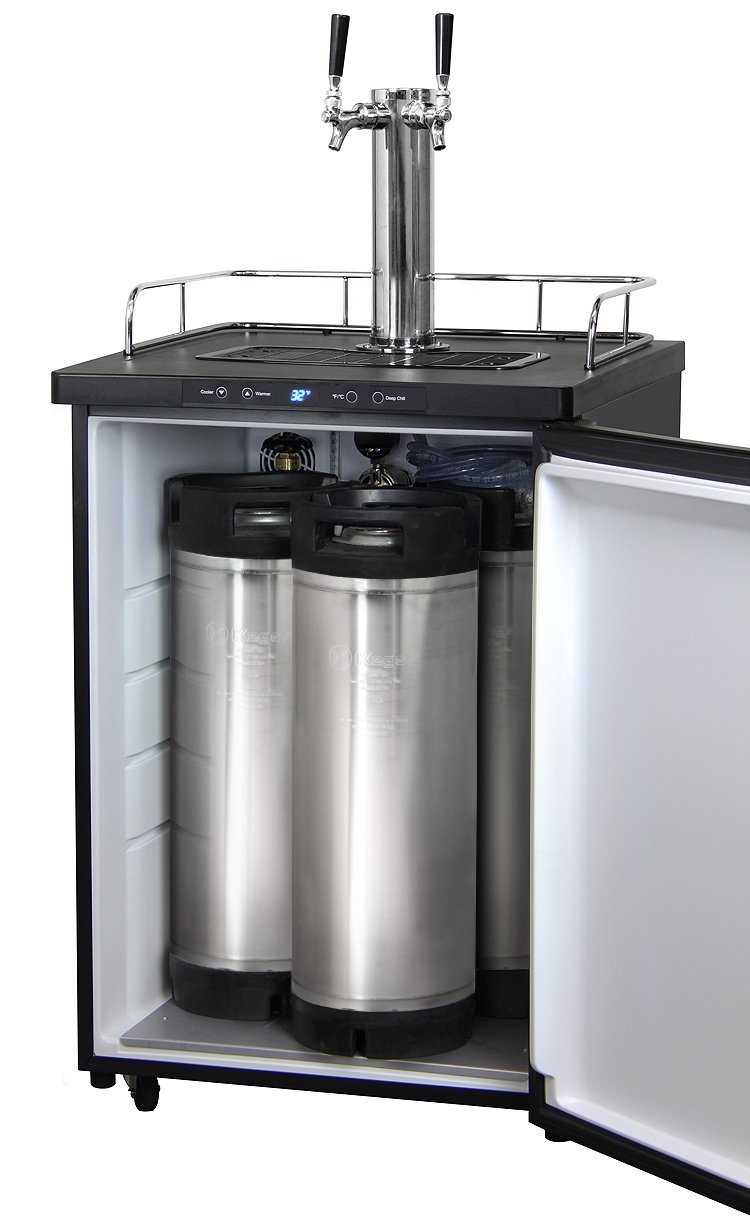 Kegco Full-Size Digital Homebrew Kegerator Dual Faucet Stainless with Ball Lock Keg by Kegco (Image #6)