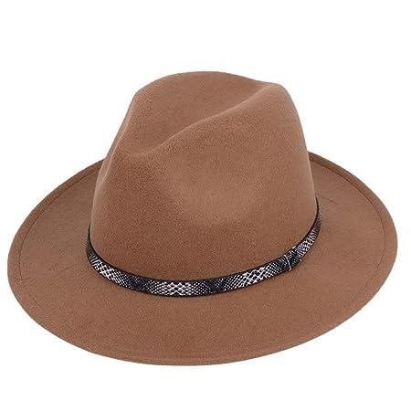 KFEK Jazz Hat Otoño Invierno Inglaterra Sombrero Vintage Moss ...