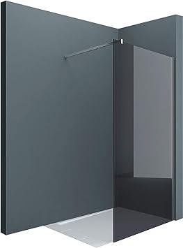 Sogood Lujosa Mampara / Panel de ducha de vidrio transparente, diseño Bremen2VG 100x200 Estabilizador de 4 esquinas de cristal auténtico de 10 mm Cristal de seguridad templado Nano - revestimiento incluido: Amazon.es: