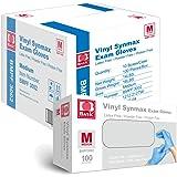 Basic Medical Synmax Vinyl Exam Gloves - Latex-Free & Powder-Free - Medium, BMPF-3002(Case of 1,000)