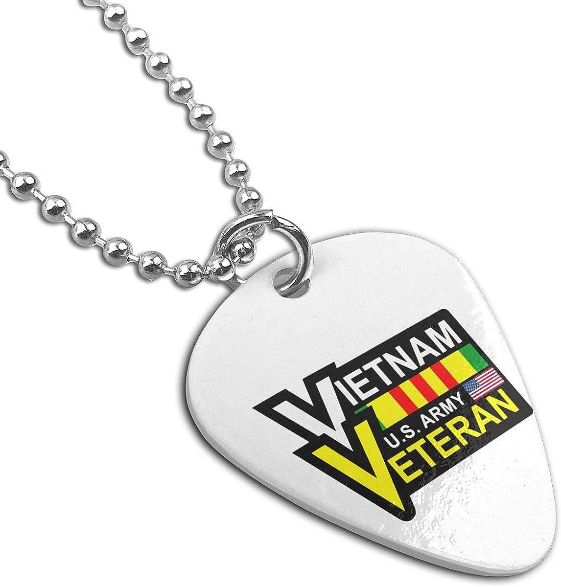 Vietnam Veteran Pendant Necklace Guitar Pick Custom Keychain Pet Card