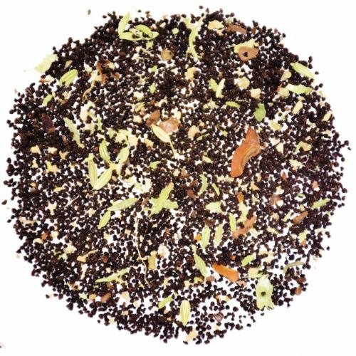 The Indian Chai - Bombay Chai Loose Black Assam Tea, With Ginger, Cardamom, Fennel and Star Anise, (Guava Leaf Herbal Infusion)
