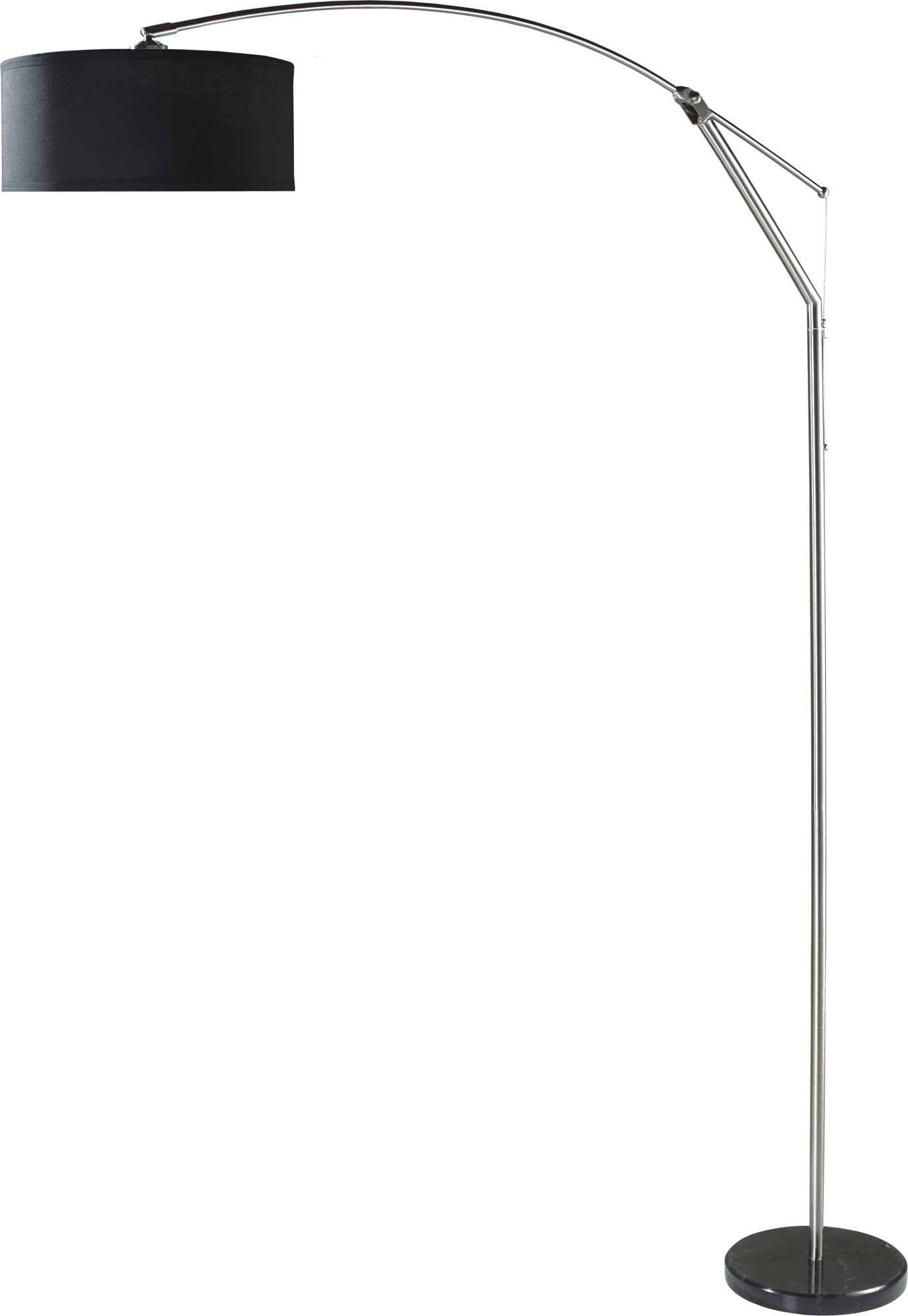 Milton Greens Stars A6933BK Suzie Adjustable Contemporary Arc Floor Lamp, 80-Inch, Black