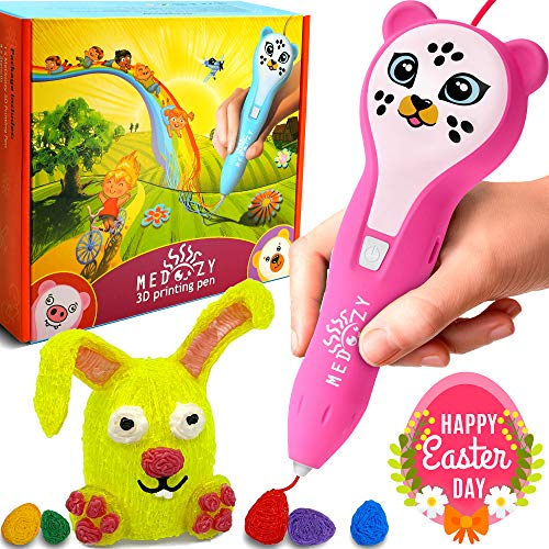 3D Pen for Kids Girl Gifts - Girl Toys Art Set - Cool Birthday Gifts for Girls Boys Teen - Fun Educational Learning Toys for Girls Boys Kids - Best Stem Presents Craft Kits with Cute Animal Stickers