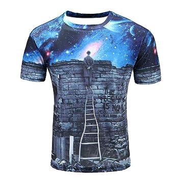 ZzSTX Hombres Camiseta 3D Imprimir 3D Camisetas Anime Hip Hop Summer Tops Tees Moda: Amazon.es: Deportes y aire libre