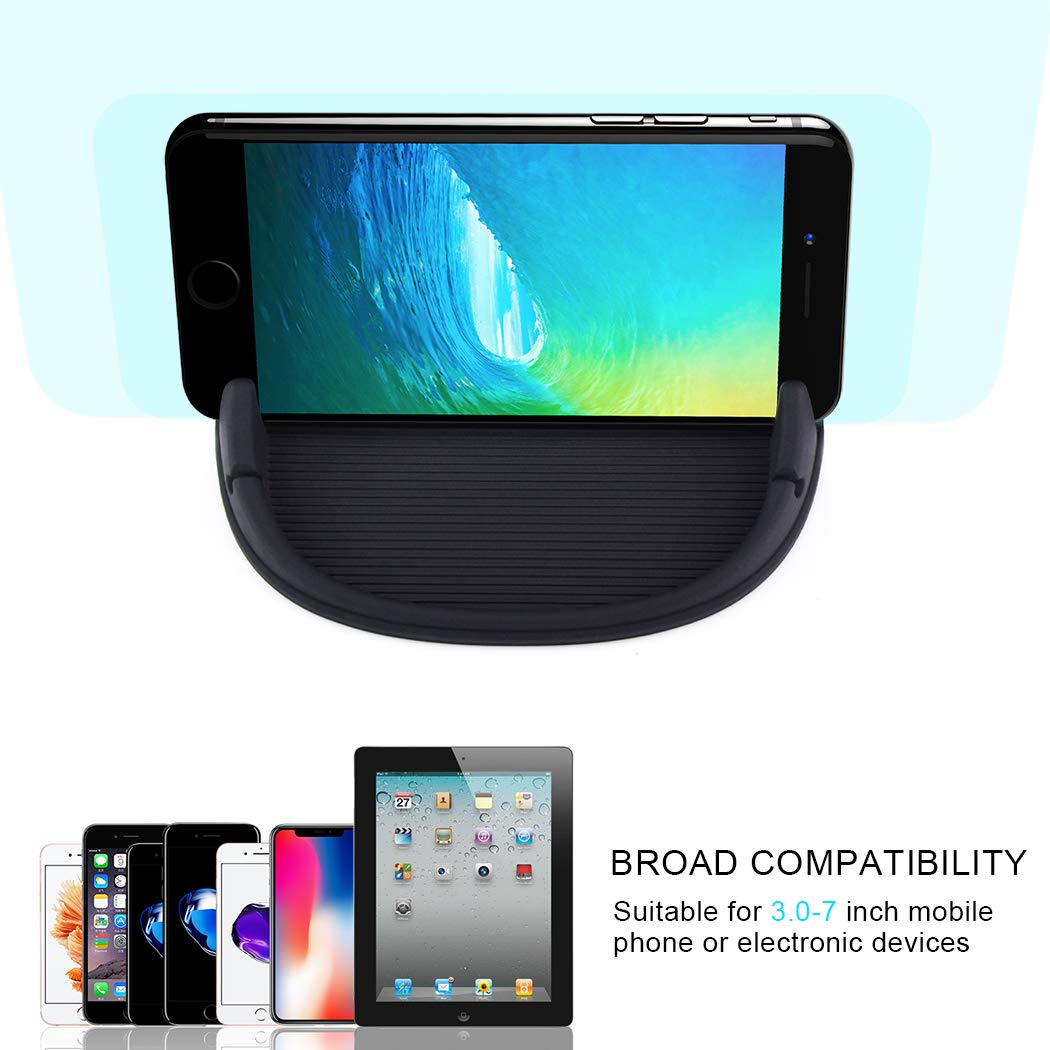 Car Phone Holder, HokoAcc Car Phone Mount Anti-slip Silicone Dashboard Car Pad Mat, for iPhone X/8 Plus/7 Plus/6/6S Plus, Samsung Galaxy S8 Plus/Note 8/S7 and Other 3.0-7 inch Devices by HokoAcc (Image #8)