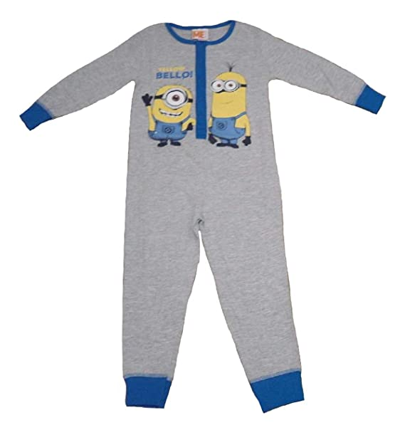 MINIONS - Pijama de una pieza - para niño grey and blue