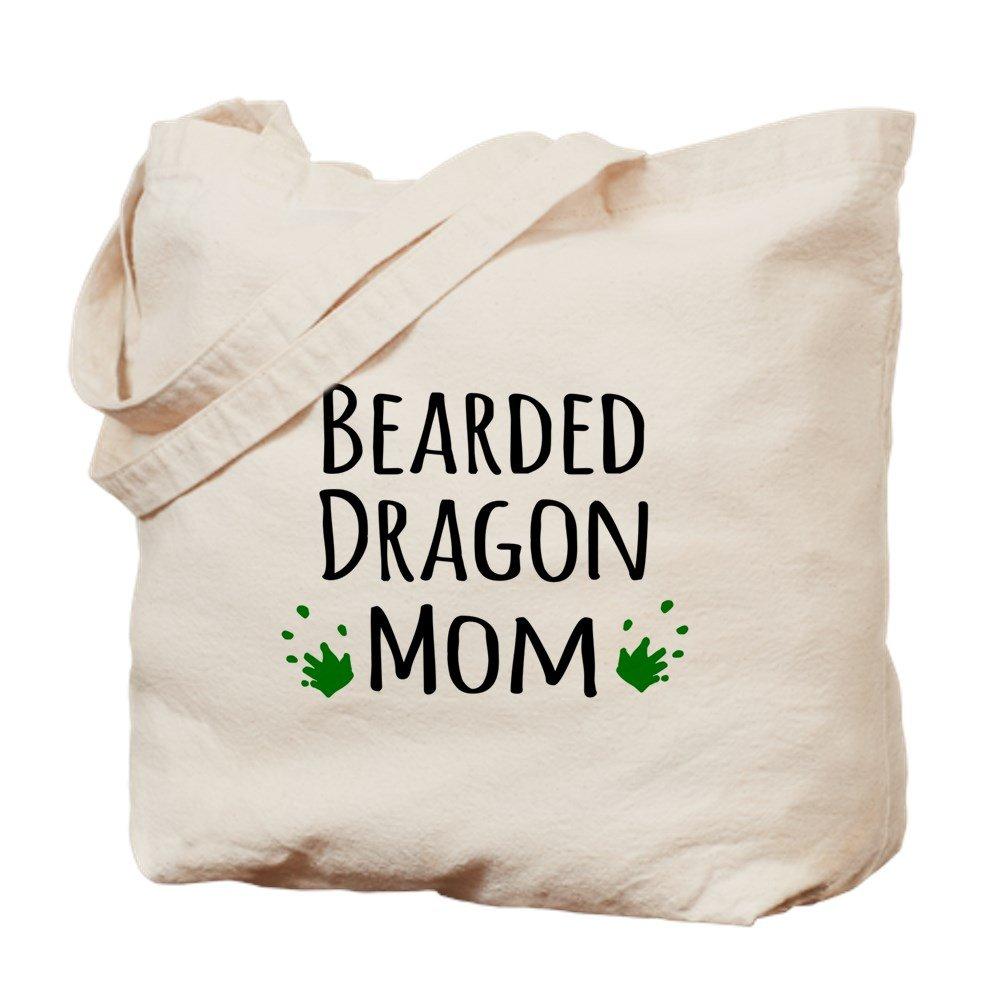 CafePress – Bearded Dragon Mom – ナチュラルキャンバストートバッグ、布ショッピングバッグ M ベージュ 12133348166893C B073QVQXBB MM