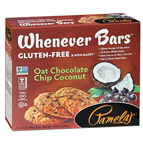 Pamela's Whenever Bars Oat Chocolate Chip Coconut Snack Bars 5 Ct (Pack of 3)