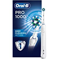Oral-B White Pro 1000 Power Rechargeable Toothbrush Powered by Braun