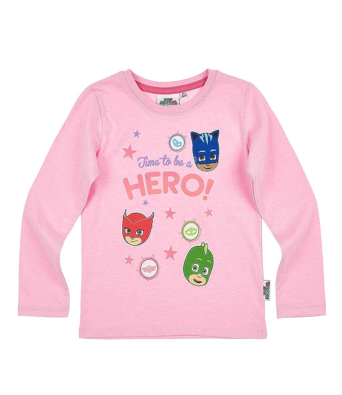736deb723cb1 PJ MASKS Girls Long Sleeve T-Shirt - Pink  Amazon.co.uk  Clothing
