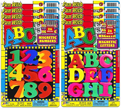 Abc Favors - JA-RU Abc's Magnetic Letters and Numbers Party Favor Bundle Pack