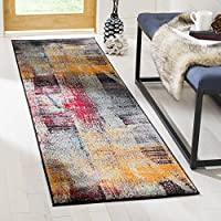 Safavieh Porcello Collection PRL6936A Multicolored Modern Abstract Runner (23 x 8)