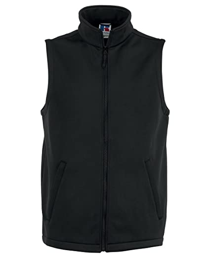 Russell Men's Smart Softshell Gilet Colour=Black Size=2XL