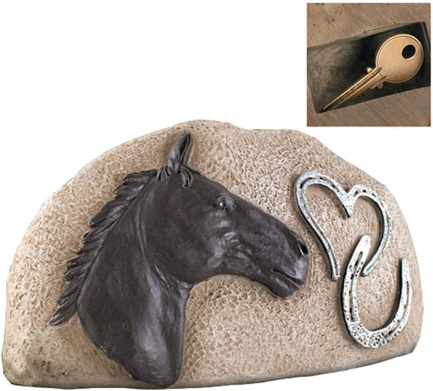 New Creative Graceful, Indoor/Outdoor, Memorial Garden Stepping Stone with Horseshoe and 3-D Accents
