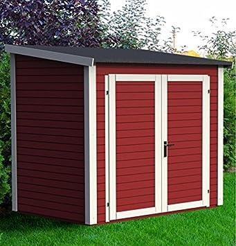Caseta de jardín (madera maciza 3.16 metros cuadrados - 19 mm skur 3 rojo - Baltic: Amazon.es: Jardín