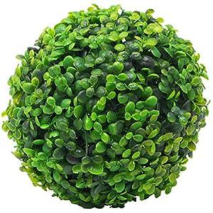 Homeford Artificial Plant Topiary Ball Boxwood Ball Wedding Decor, Green, 14-Inch 64